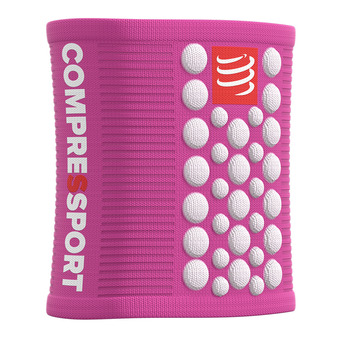 Compressport SWEAT 3D.DOTS - Poignets-éponges rose/blanc