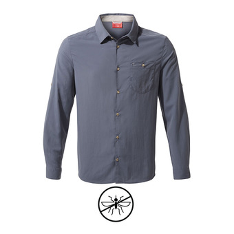 Nuoro LS Shirt Ombre Blue Homme Ombre Blue