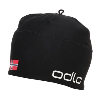 Odlo POLYKNIT FAN - Gorro black/ norwegian flag