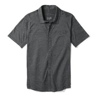 Smartwool MERINO SPORT 150 BUTTON DOWN - Camicia Uomo medium gray heather