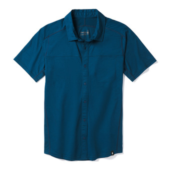 Smartwool MERINO SPORT 150 BUTTON DOWN - Shirt - Men's - alpine blue
