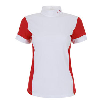 Polo de concours MC femme HEATHER fire red