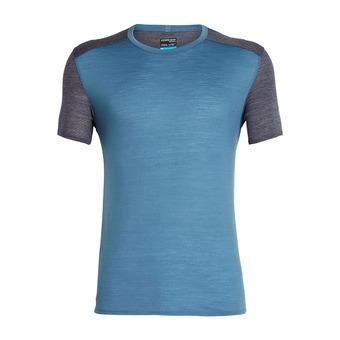 Icebreaker AMPLIFY CREWE - T-shirt Uomo thunder/panther hthr