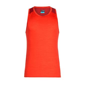 Icebreaker AMPLIFY - Camiseta de tirantes hombre chili red/sienna