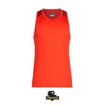 Débardeur homme AMPLIFY chili red/sienna