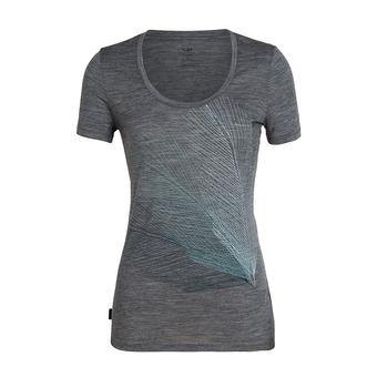Icebreaker SCOOP PLUME - T-shirt Donna gritstone hthr