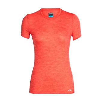 Icebreaker AMPLIFY LOW CREWE - Tee-shirt Femme ember hthr