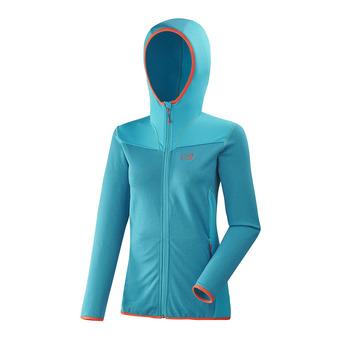Polaire zippée à capuche femme SENECA TECNO h enamel/enamel blue