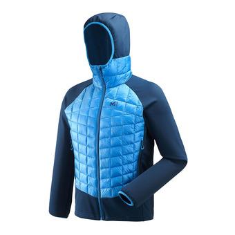 Veste hybride à capuche homme HYBRID NEEDLES electric blue/poseidon