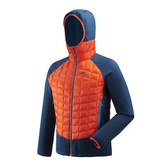Veste hybride à capuche homme HYBRID NEEDLES orange/poseidon