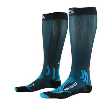 Chaussettes de compression RUN ENERGIZER bleu/noir