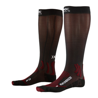 X-Socks RUN ENERGIZER - Calze ruby/nero