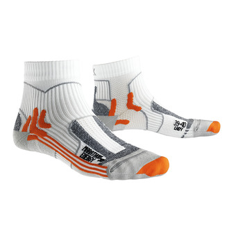 X-Socks MARATHON ENERGY - Chaussettes blanc/orange/gris perle
