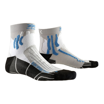 X-Socks RUN SPEED 2 - Calcetines gris perla/azul/negro