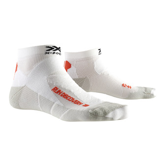 X-Socks RUN DISCOVERY - Calcetines blanco/gris dolomite