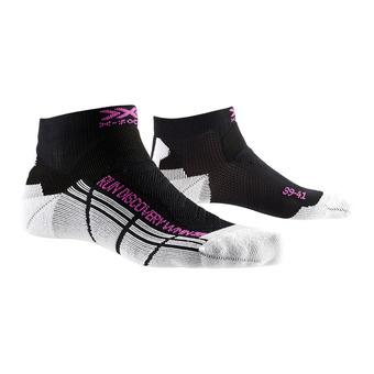 X-Socks RUN DISCOVERY - Chaussettes Femme noir mélangé/blanc