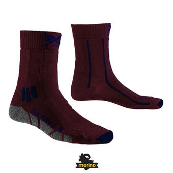 X-Socks TREK X MERINO LIGHT - Calcetines dark ruby