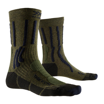 X-Socks TREK X CTN - Socks - dark khaki /blue