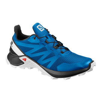 Salomon SUPERCROSS - Trail Shoes - Men's - indigo bunting/black/wht