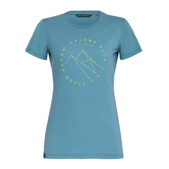 Salewa ALTA VIA - Tee-shirt Femme ocean melange