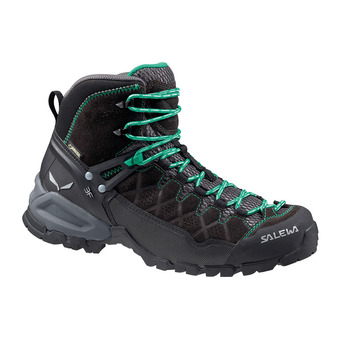 Salewa ALP TRAINER MID GTX - Hiking Shoes - Women's - black out/agata