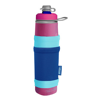 Camelbak PEAK FITNESS CHILL - Botella 710ml + funda pink/blue