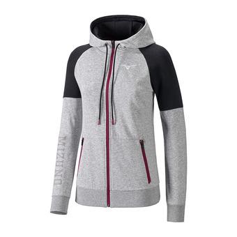 Sweat zippé à capuche femme HERITAGE heather grey