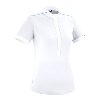 Horse Pilot AEROLIGHT - Show Polo Shirt - Women's - white