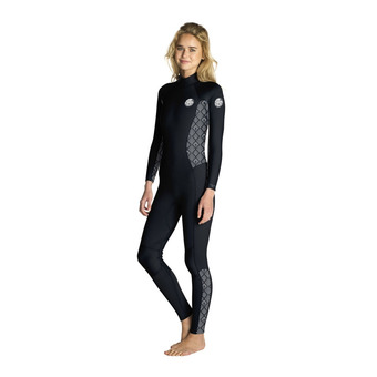 LS Full Wetsuit 4/3mm - Women's - DAWN PATROL black/white