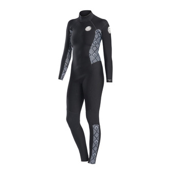 Rip Curl DAWN PATROL - Combinaison 3/2mm Femme black/white