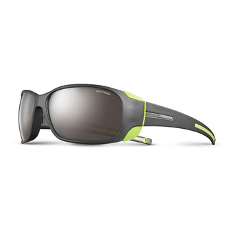 Julbo MONTEBIANCO - Sunglasses - Men's - matt black aniseed/flash silver