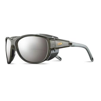 Julbo EXPLORER 2.0 - Occhiali da sole grigio traslucido opaco/arancione/flash argento
