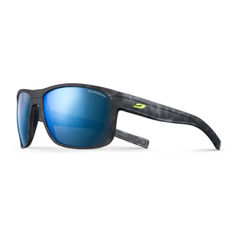Julbo RENEGADE - Occhiali da sole polarizzati tartaruga nero opaco/nero/multilayer blu