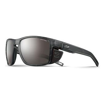 Julbo SHIELD - Occhiali da sole nero traslucido/nero/gun/flash argento