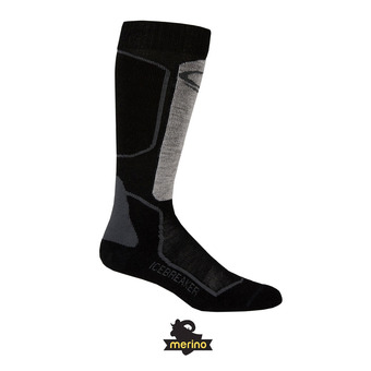 Chaussettes de ski homme SKI+ LIGHT OTC oil/black/silver