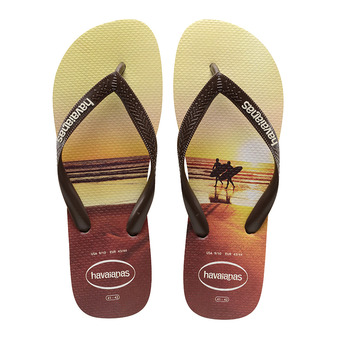 Havaianas HYPE - Chanclas hombre sand grey/dark brown