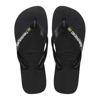 Havaianas BRASIL LOGO - Flip-Flops - black/black
