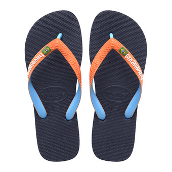 Havaianas BRASIL MIX - Chanclas navy/neon orange