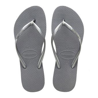 Havaianas SLIM - Tongs Femme steel grey