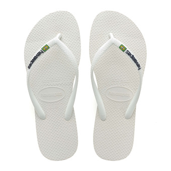 Havaianas SLIM BRASIL - Flip-Flops - Women's - white