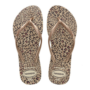 Havaianas SLIM ANIMALS - Tongs Femme beige/rose gold/rose gold