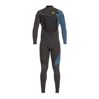 Quiksilver HIGHLINE PLUS - Traje 3/2mm hombre jet black/blue steel