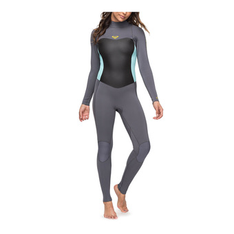 Roxy SYNCRO SERIES - Traje 3/2mm mujer deep grey/glicer blue