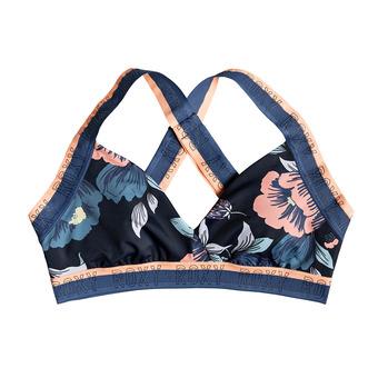 Roxy FITNESS MOD - Haut maillot de bain Femme med blue full flowers