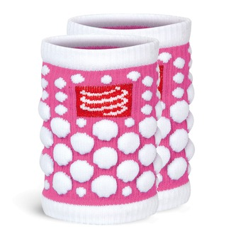 Compressport SWEAT 3D - Muñequeras pink fluo