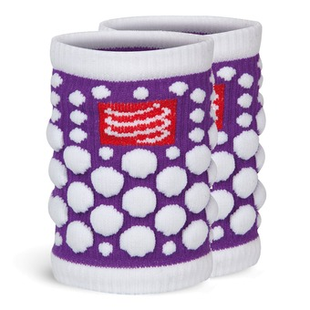 Compressport SWEAT 3D - Muñequeras violet fluo