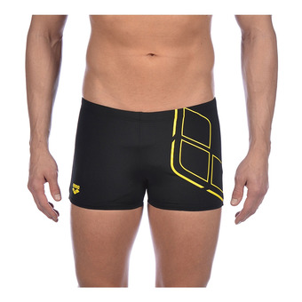 Arena ESSENTIALS - Swimming Trunks - Men's - black/yellow star