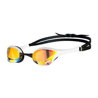 Arena COBRA ULTRA SWIPE MIRROR - Gafas de natación yellow copper/white