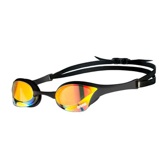 Arena COBRA ULTRA SWIPE MIRROR - Lunettes de natation yellow copper/black