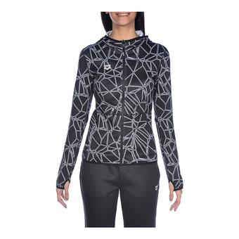 Arena HOODED SPACER REVERSIBLE - Sweatshirt - Women's - carbonics pro/white